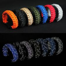 Outdoor Paracord Survival Bracelet with Whistle & 11FT Reflective Rope Gear Kits
