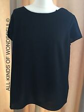 Replay Black Contrast Blouse ( Back pleat detailing) RRP£90 Brand New With Tags