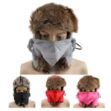 2016 Winter Ear Flap Bomber Hats Faux Fur Ski Cycling Hunting Hat for Women Men
