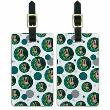 Luggage Suitcase Carry-On ID Tags Set of 2 Geometric Animals