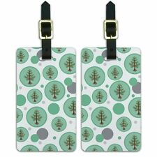 Luggage Suitcase Carry-On ID Tags Set of 2 Holiday Christmas New Years