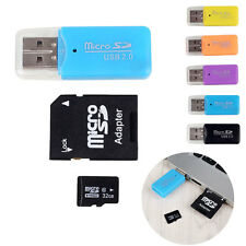 Micro Cards SDHC MicroSD TF Memory Card W/ SD Adapter Card Reader Cass 10