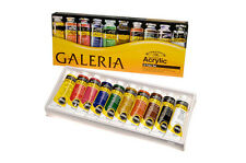 WINSOR & NEWTON NEW GALERIA ACRYLIC PAINTS TUBE SET 10 x 60ml
