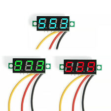 Mini Panel Meter with 3 Wires DC 0-100V LED 3-Digital Diaplay Voltage Voltmeter