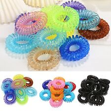12pcs Girl Rope Elastic Rubber Hair Ties Hair Bands Bobbles  Ponytail Holders FT