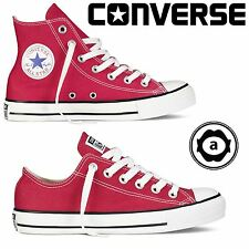 Converse Red Chuck Taylor All Star Hi Lo Tops Unisex Canvas Trainers