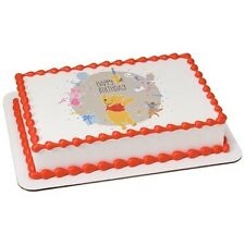 Winnie the Pooh 1st Birthday Party Edible Cake OR Cupcake Toppers Decoration