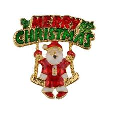 Hot Mixed Brooch Pin Decoration for Xmas Christmas Jewelry Gifts