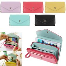 for Apple iPhone 6 / 5 5S / 4S Multifunctional Envelope Handle Wallet Purse Case