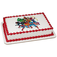 Marvel Comics Avengers Edible Cake OR Cupcake Toppers Decoration