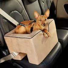 Dog Car Seat/ Booster Seat by Pet Gear Washable Tan Beige Med/Lge -FREE Shipping