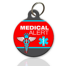 Medical Alert - Pet ID Tag - Custom ID Tag for Dog or Cat - Personalized
