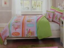 Kids Expressions Owls Twin or Full Reversible Quilt, Shams, Deco Pillow Set NIP