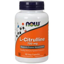 NOW Foods L-Citrulline 750mg Amino Acid Immune Health 90 or 180 Veg Capsules