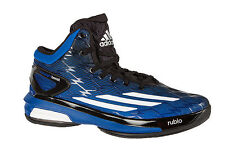 Mens Adidas Crazy Light Boost Classic Basketball Boots Trainers Shoes Black Blue