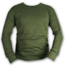 BRITISH ARMY THERMAL LONG SLEEVED TOP BASE LAYER WICKING MILITARY OLIVE GREEN