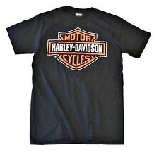 Harley-Davidson® Men's Large Bar & Shield Logo T-shirt | Black-Orange R30200003