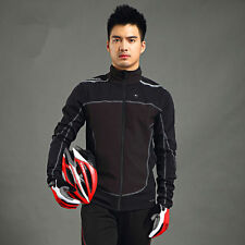 DS Running Leisure Cycling Windproof Fleece Thermal Long Sleeve Jersey Coat