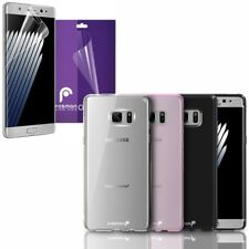 Fosmon Slim TPU Case + 3 Clear Full Screen Protector for Samsung Galaxy Note 7