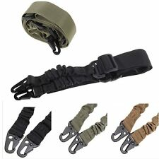 Adjustable Hunting 1 One Point Rifle Sling Bungee Tactical Shotgun Strap Syste~L