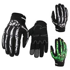 Fashion Mens Cycling Bike Motorcycle Skull Bone Skeleton Goth Full Finger Gloves