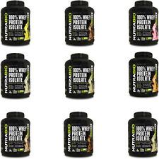 NUTRABIO 100% WHEY PROTEIN ISOLATE ULTIMATE LEAN MUSCLE - 5 POUNDS - 9 FLAVORS