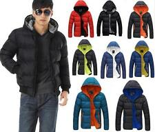 New Fashion Mens Winter Hooded Slim Jacket Casual Warm Down Padded Coat CS Size