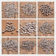 20/100PCS Tibetan Silver Heart Spacer Beads Frame Charms Jewelry
