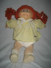 Vintage Cabbage Patch Kids Doll Orange Hair Blue Eyes Girl In CPK Clothes