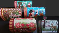 CHRISTMAS HOLIDAY GIFT BOXES  MAILBOXES W FLAGS Decoupage, SELECT: Size & Theme