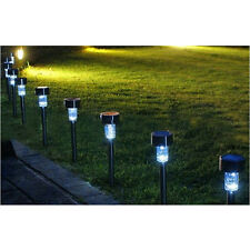 5/10 Outdoor Garden Stainless Steel LED Solar Landscape Path Lights Yard Lamp fV