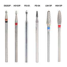 Nail Art Drill Bits Carbide File Cuticle Clean Burr Salon Manicure Pedicure Tool
