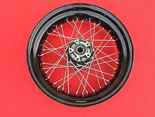 "GENUINE 2011 HARLEY DYNA STREET BOB REAR 17"" WHEEL 2008-2016 BLACK HUB SPOKE RIM"
