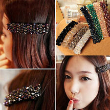 Fashion Women Bling Headwear Crystal Rhinestone Girls Hair Clip Barrette Hairpin