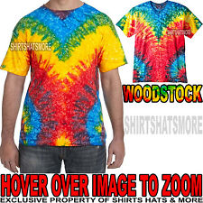 Mens 100% PRESHRUNK Cotton Woodstock Tie-Dye T-Shirt Adult Tye Die Tee S M L XL