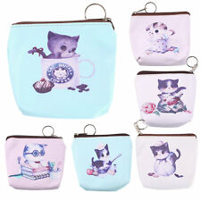 Cute Women Cartoon Girl Zipper Coin Purse Fashion Card Bag Wallet Handbag F5