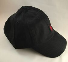 BNWT Adults One Size Ralph Lauren Cap Hat Polo Black With Red Pony RRP £35