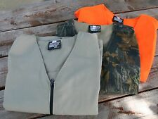 Heated Vest - 8 pockets to hold Large warmers MADE IN USA includes 6 Warmers