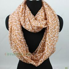 Fashion Women's Leopard Print Infinity Loop Cowl Voile Casual Scarf Lady Shawl