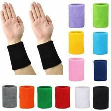 2 x Sports Wrist Unisex Terry Cloth Badminton Gym Wristband Exercise Sweatbands