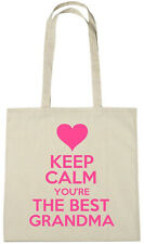 Keep Calm Best Grandma Tote Bag,gift ideas xmas christmas birthday gifts for nan