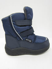 BOYS REFLEX SNOW WINTER BOOTS WITH RIPTAPE STRAPS N2012 NAVY TEXTILE UPPER