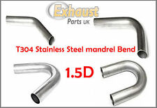 """Tight Small Stainless Steel Mandrel Bend 1.75"""" 45mm Radius Exhaust Manifold 1.5D"""