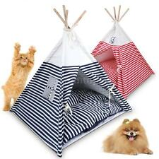 Foldable Pet Teepee Pet Tent with Pet Bed Mat Pet Supplies Indoor/Outdoor U2Y2