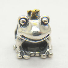 Authentic Genuine S925 Sterling Silver FROG PRINCE CHARM Bead