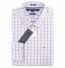 Tommy Hilfiger Men Long Sleeve Custom Fit Button Down Plaid Casual Shirt $0 ship