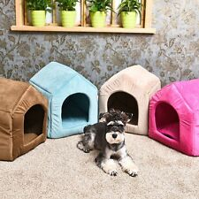 Pet Dog Cat House Igloo Bed Windproof Warm Puppy Dog Cat Pad Mat Beds Kennels
