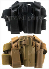 Tactical Right Drop Leg Thigh Pistol Holster Magazine Torch Pouch for Colt 1911