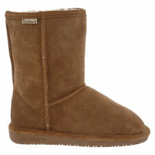 Women Bearpaw Emma Short Boot 608W-220 Hickory Suede 100% Authentic Brand New