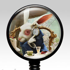Nurse ID Holder - Retractable Name Badge Clip RN Alice White Rabbit Badge Reel 3